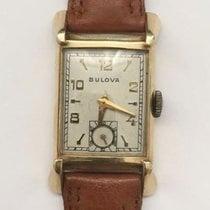 Vintage Mens Bulova 14k Solid Yellow Gold 21 Jewels