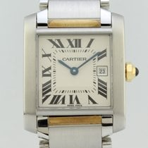 Cartier Tank Française Gold/Steel 24mm White Roman numerals