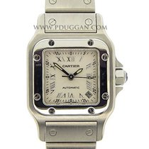 Cartier stainless steel small Santos Galbee