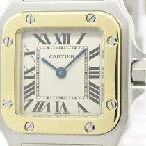 Cartier Santos Galbee 18k Gold Steel Ladies Watch W20012c4...