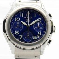 Hublot Mdm 1810.1 Stainless Steel Chronograph Automatic Blue...