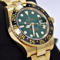 Rolex Gmt Master II 116718 18k Yellow Gold Green Dial Ceramic...