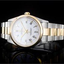 Rolex Oyster Perpetual 34 gebraucht 34mm Weiß Gold/Stahl