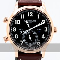 Patek Philippe Travel Time Or rose 42mm Brun