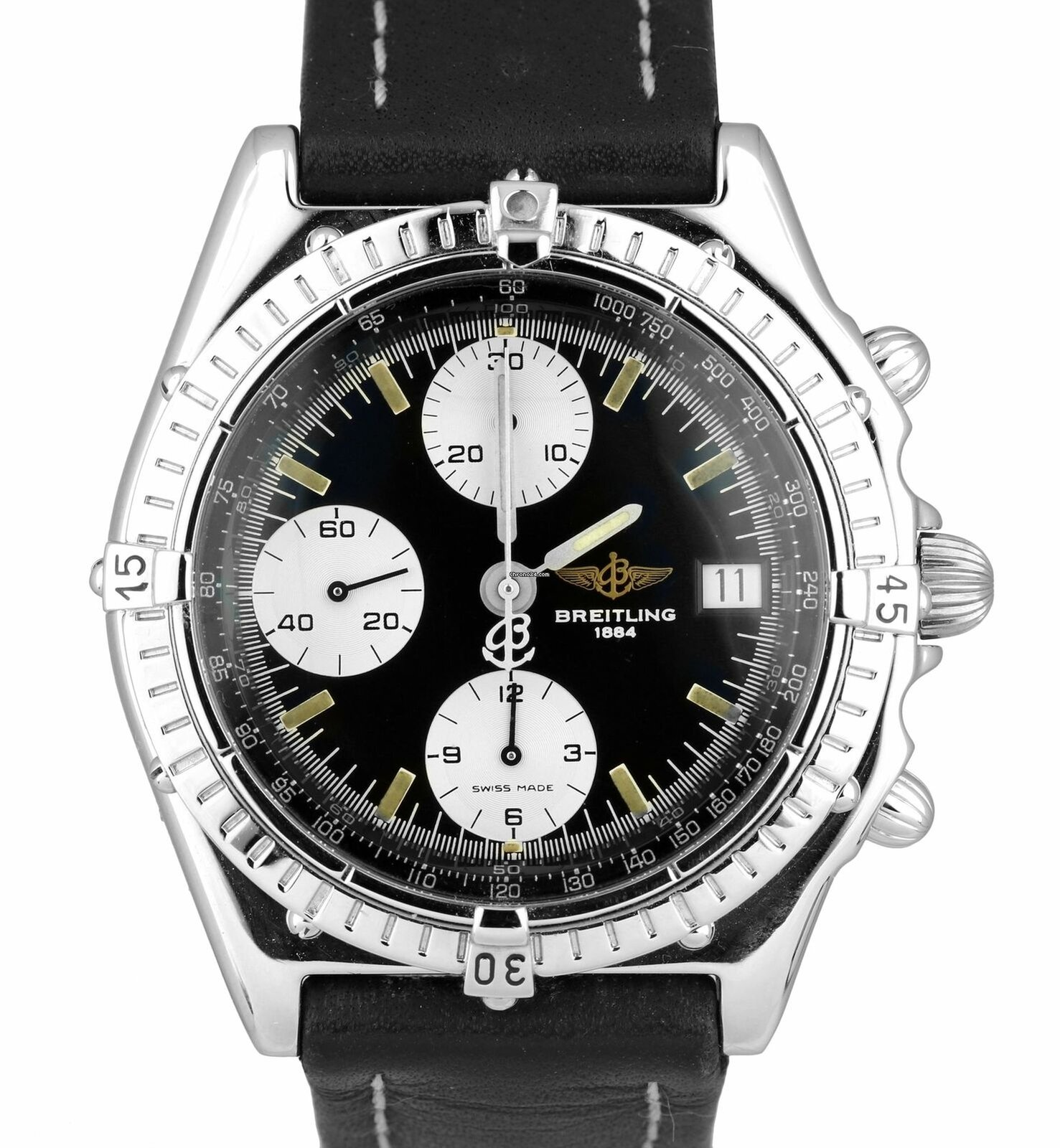 Breitling Chronomat 40mm Chronograph Black Patina Stainless For 1 994 From A Trusted Er On Chrono24