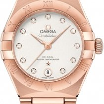 Omega Rose gold Automatic Silver Roman numerals 29mm new Constellation