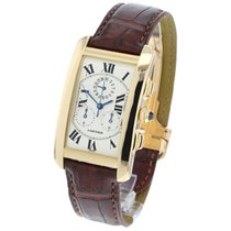 Cartier Tank Américaine Yellow gold 27mm Silver Roman numerals United Kingdom, London