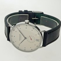 NOMOS Metro 38 Datum pre-owned 38,5mm White Date Leather