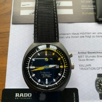 Rado HyperChrome Captain Cook pre-owned 46,8mm Black Date Weekday Textile