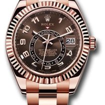 Rolex Red gold Automatic Brown Roman numerals 42mm new Sky-Dweller