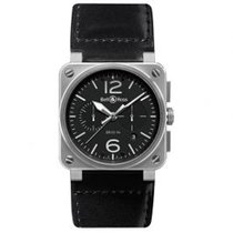 Bell & Ross BR 03-94 Chronographe BR0394-BL-SI/SCA new