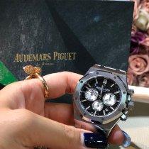 Audemars Piguet Acier Remontage automatique Noir Sans chiffres 41mm nouveau Royal Oak Chronograph