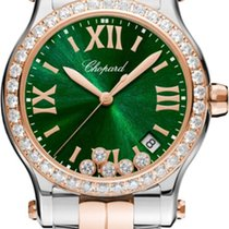 Chopard Happy Sport Gold/Steel 36mm Green United States of America, New York, Airmont
