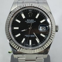 Rolex Datejust II steel/white gold bezel 116334