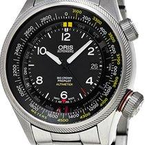 Oris 73377054164MB Acier Big Crown ProPilot Altimeter nouveau