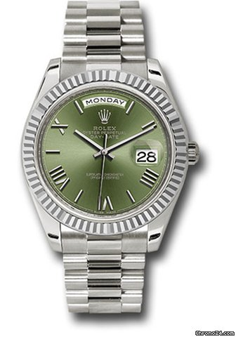 Rolex 228239 Ogrp Green Dial Day Date 40 White Gold