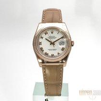 Rolex Datejust 36 Everose-Gold Ref. 116135  Weiß
