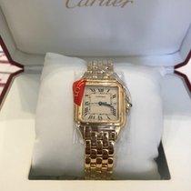 Cartier Panthère Or jaune 27mm Blanc Romain France, Nice