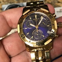 Tissot 1853 PRS-200 Blue Chronograph Dial Yellow Gold Watch...