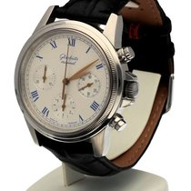 GUB Glashütte Chronograph Steel White Roman 40 MM - 200171 - Men