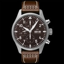 IWC Pilot Chronograph Steel 43mm Brown United States of America, California, San Mateo