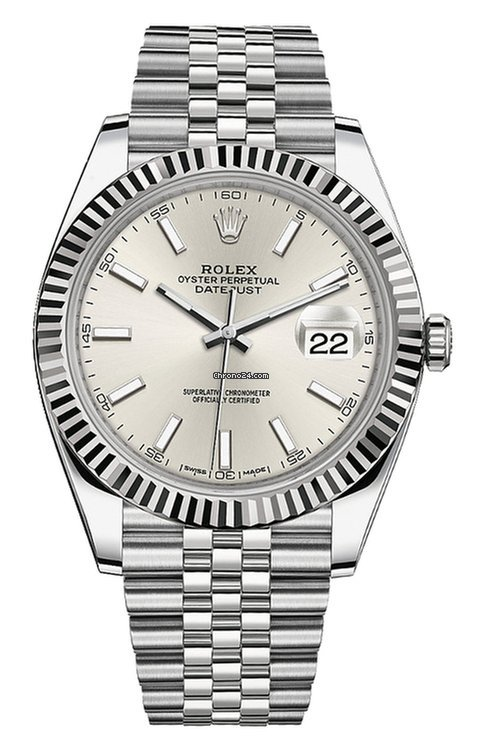 Rolex Datejust Rolex Datejust 41 126334 Stainless Steel SILVER STICK DIAL 2021 new