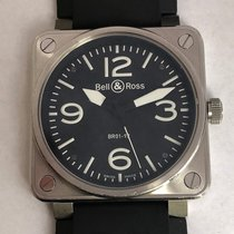 Bell & Ross Automatic Pilot's Watch Br01-92-bl-sru Used 46 Mm...