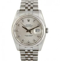 Rolex Datejust Steel 36mm Silver No numerals UAE, Dubai