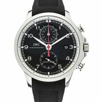 IWC Portuguese Yacht Club Chronograph Steel 45mm Black Arabic numerals