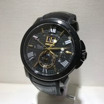 Seiko Premier Kinetic Perpetual Steel 42,9mm Black