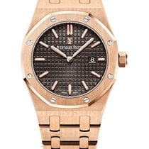 Audemars Piguet Royal Oak Lady Roségoud 33mm Bruin Geen cijfers