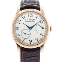 F.P.Journe Rose gold Manual winding Silver 40mm pre-owned Souveraine
