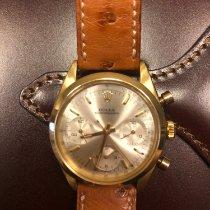 Rolex Oro amarillo Cuerda manual Plata Sin cifras 37mm usados Chronograph