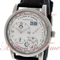 A. Lange & Söhne White gold Manual winding Silver Roman numerals 41.9mm new Lange 1