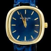 Patek Philippe 25mm Remontage manuel occasion Golden Ellipse Bleu