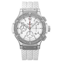 Hublot Big Bang White Diamonds 41mm Automatic Stainless Steel...