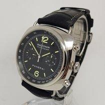 Panerai Radiomir Chronograph Steel Black Automatic 45mm  Watch