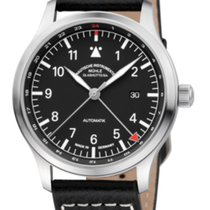 Mühle Glashütte Terrasport IV GMT Black Dial & Leather Strap...