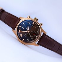 IWC Pilot Spitfire Chronograph 18kt Gold/Brown
