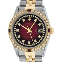Rolex Datejust Gold/Steel 36mm Red