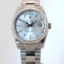 Rolex Day-Date 36 Witgoud 36mm Zilver Nederland, The Netherlands
