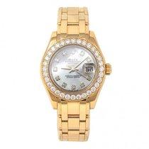 Rolex Datejust 18k Yellow Gold MOP Dial Diamond Bezel Automati...