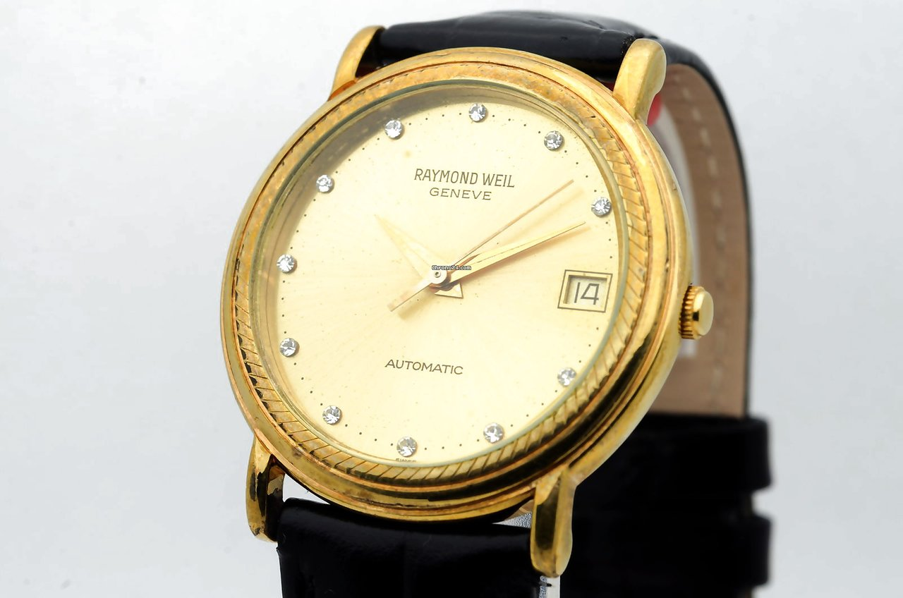 Raymond Weil Geneve Automatic Swiss Made Date Gold Plated Oro For