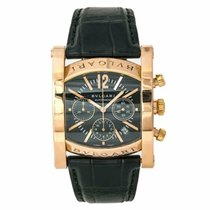 Bulgari Rose gold Automatic Black No numerals 38mm pre-owned Assioma
