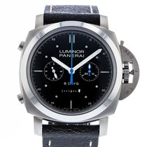 Panerai Luminor 1950 Rattrapante 8 Days Titânio 47mm Preto