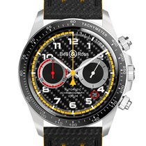 Bell & Ross BR V2 pre-owned 41mm Black Chronograph Date Leather