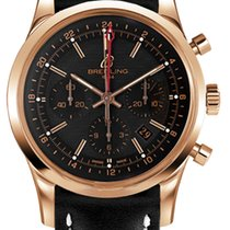 Breitling Transocean Chronograph GMT Oro rosado 43mm Negro Sin cifras
