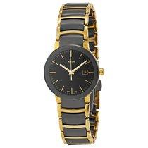 雷达 (Rado) Rado Ladies Centrix Yellow Gold PVD Black Ceramic Watch