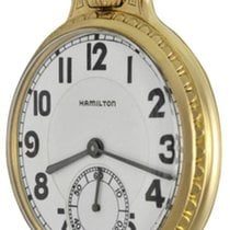 Hamilton Yellow gold Manual winding Arabic numerals pre-owned