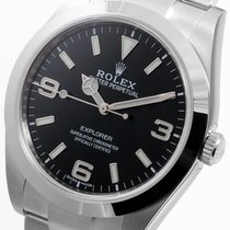 Rolex SS 39mm Explorer Blue Luminova Dial 214270 Unworn 2016...